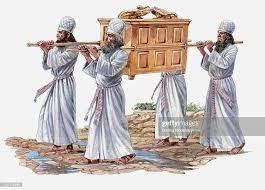 Illustration Of Four Priests Carrying The Ark Of The Covenant And Crossing  The River Jordan High-Res Vector Graphic - Getty Images