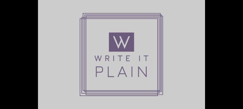 Write It Plain