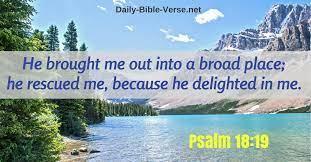 Daily Bible Verse | Strength | Psalm 18:19 (ESV)